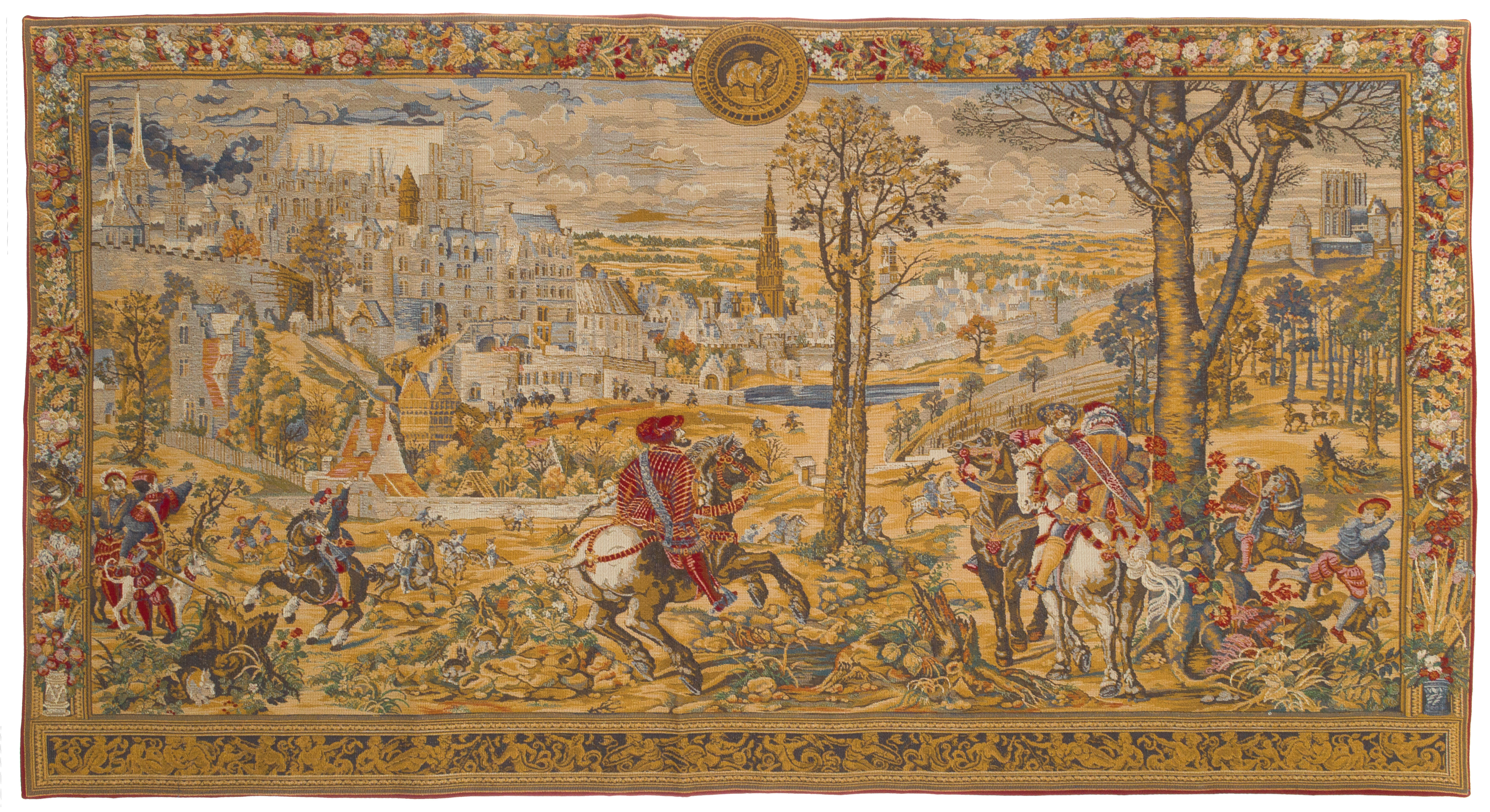 Wall Tapestry Medieval Brussels Horizontal Wall Tapestries