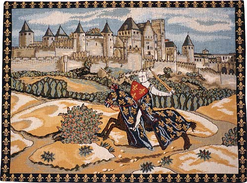 Wall Tapestry Knight Amp Castle Tapestry Wall Hangings