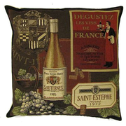 tapestry cushions wine