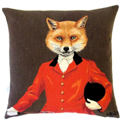 tapestry cushions foxhunt