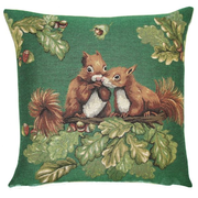 tapestry cushions forest