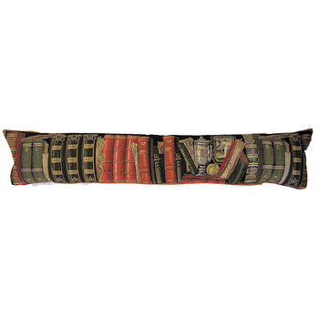 tapestry draught excluder library antique
