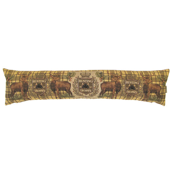 tapestry draught excluder hunting trophy