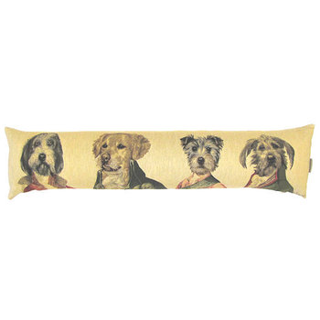 tapestry draught excluder Poncelet dogs I