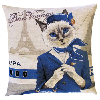 flight attendant tabby cat I