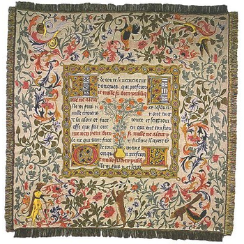tapestry throw medieval fairy tales