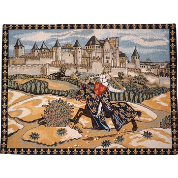 wall tapestry Knight & Castle