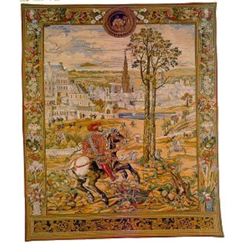 wall tapestry medieval Brussels vertical