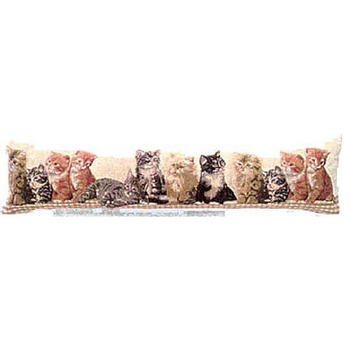 tapestry draught excluder cat family
