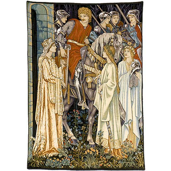 wall tapestry the Holy Grail left panel by W.Morris