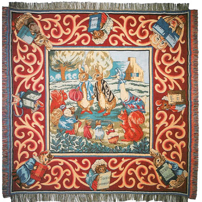 tapestry table throw Peter Rabit