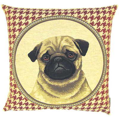 pug red houndstooth